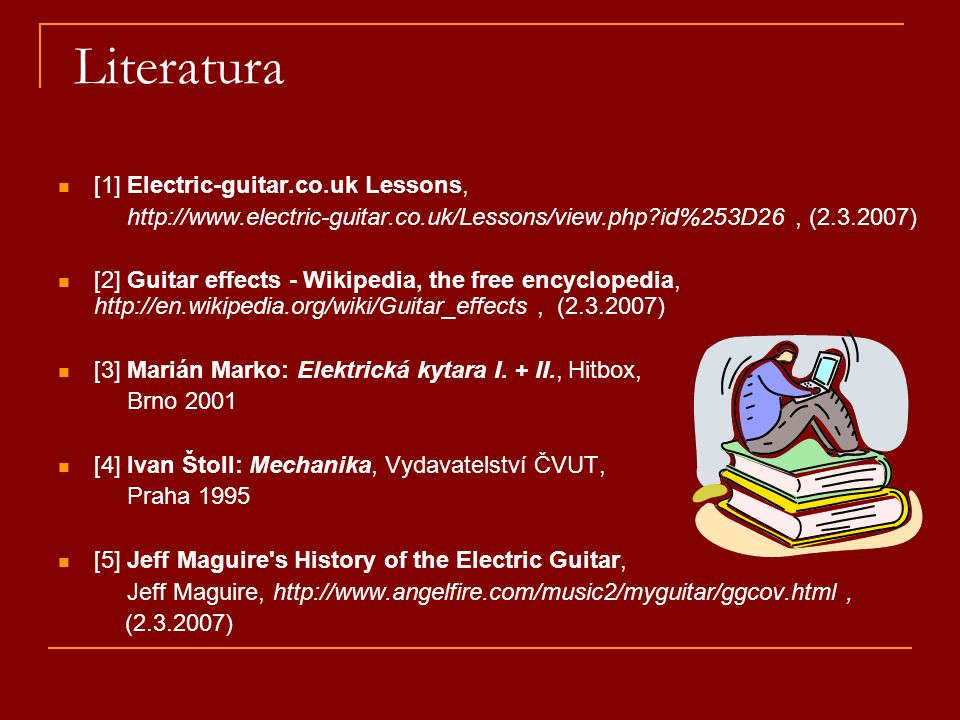 Literatura [1] Electric-guitar.co.uk Lessons,